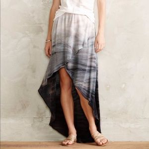 Anthropologie seascape ombré hi low Gypsy Skirt S